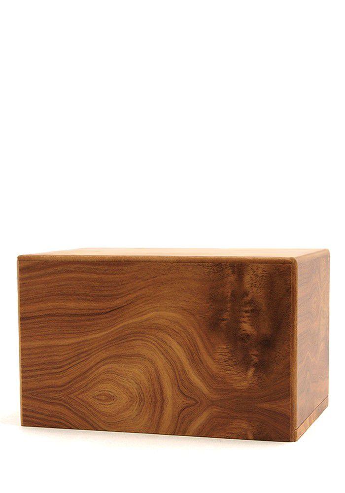 Große Box Urne auf Sockel Natürlich (3,5 Liter) Holzurnen