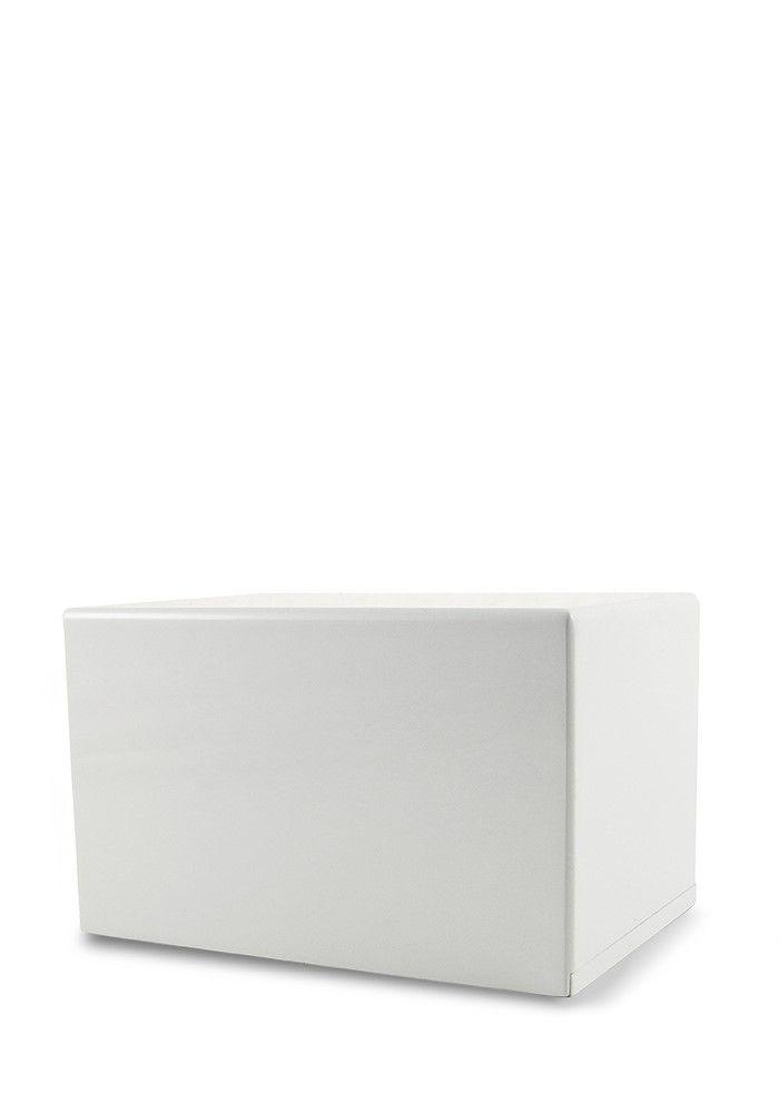 Große Box Urne auf Sockel Hochglanz Weiß (3,5 Liter) Holzurnen