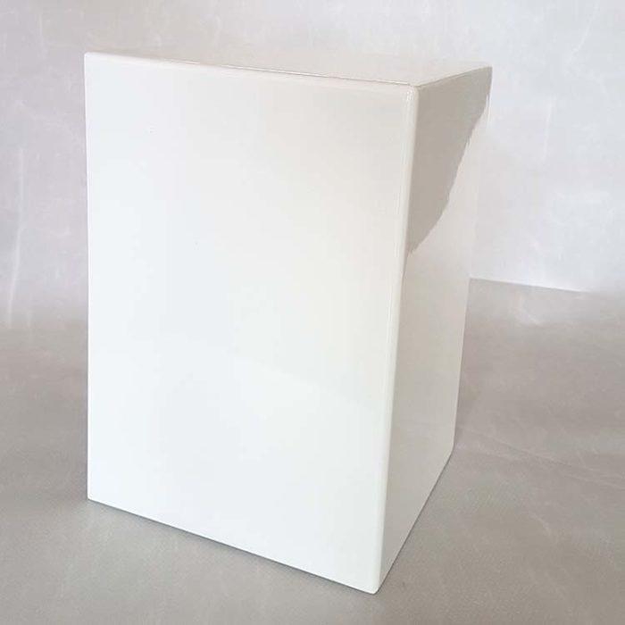 Hochglanz Weiß Sockel Urne (3,5 Liter) Holzurnen