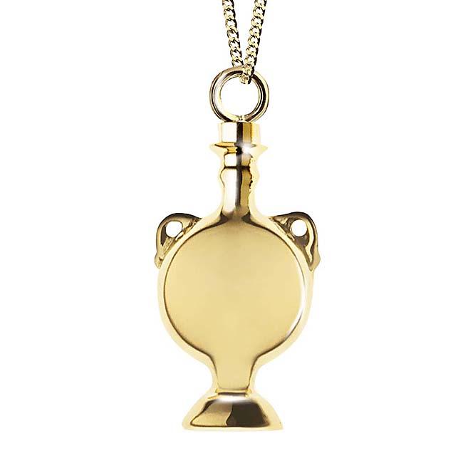 Ascheanhänger Verziertes Amphoren Gold Glockenförmiger Anhänger für Asche
