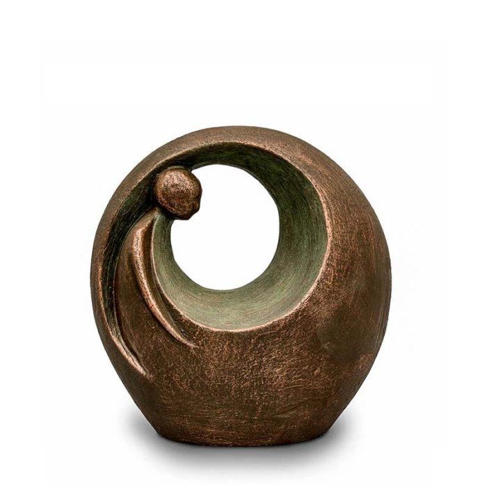 Große Keramische Aschestatue Einsam Aber Nicht Alleine (3,0 Liter) Keramik Urnen