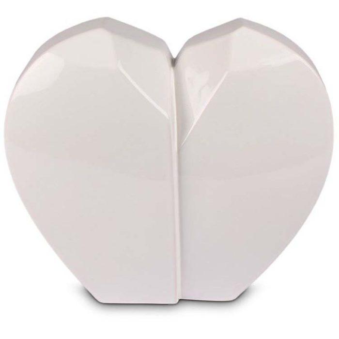 Große Weiße Keramische Tierurne Gebrochenes Herz (4,5 Liter) Keramische Tierurnen