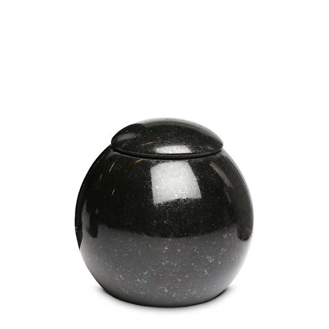 Granit Mini Urne Kugel mit Deckel Marlin (0,1 Liter) Natursteinurnen Mini Urnen