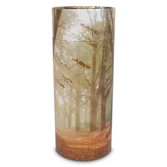 Große Bio Eco Urne oder Aschestreuer Herbstwald (3,0 Liter)