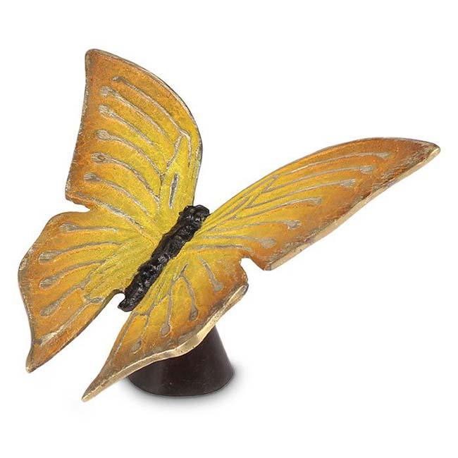 Aschestatue Gelbe Schmetterling, 13.0 cm (0,01 Liter) Bronze Urnen